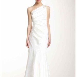 Bridal dress 1 Shoulder Beaded dress